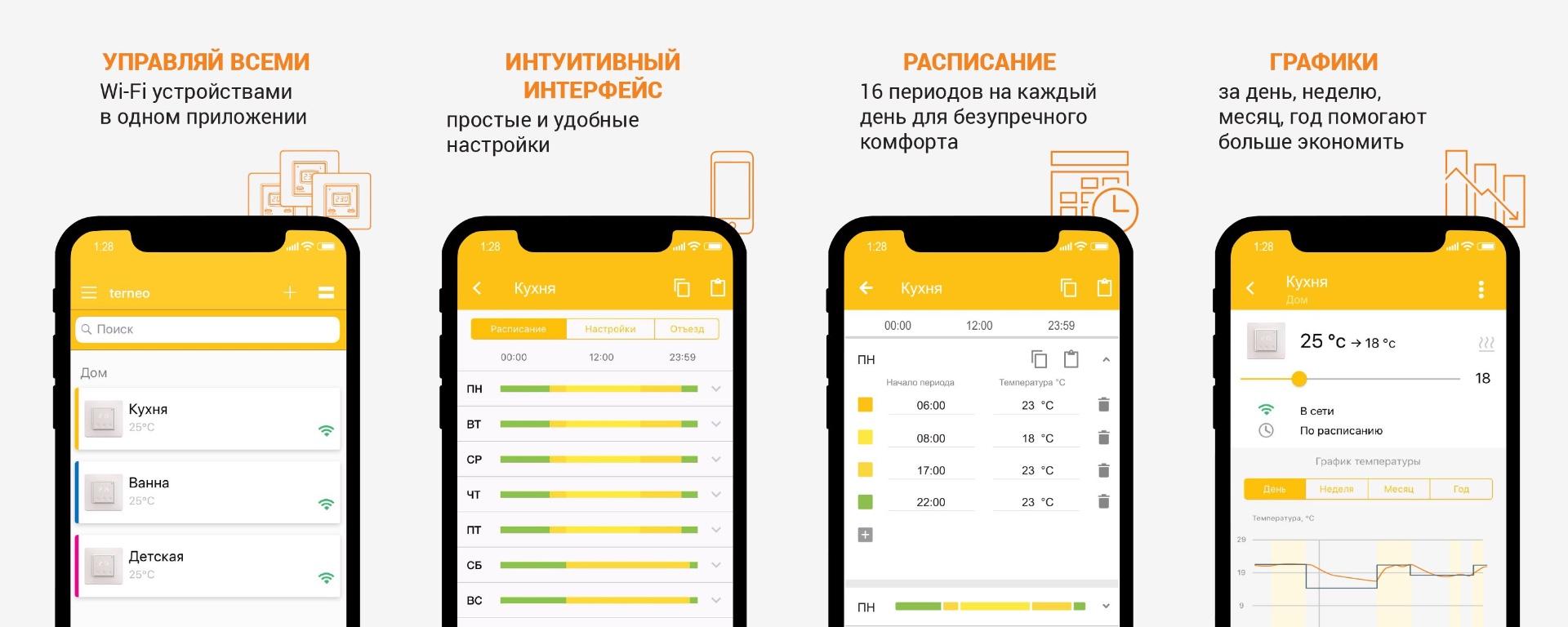 Управление терморегулятором terneo ax через смартфон