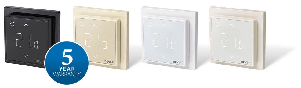 Термостат DEVIreg™ представлен в 4 цветовых решениях