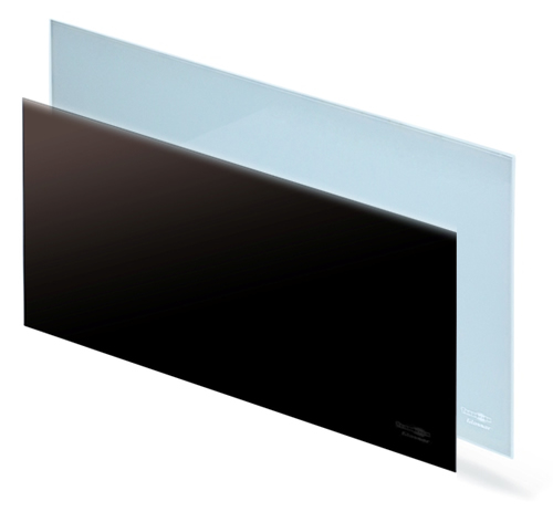 Черный и белый корпус обогревателя Теплофон-Glassar