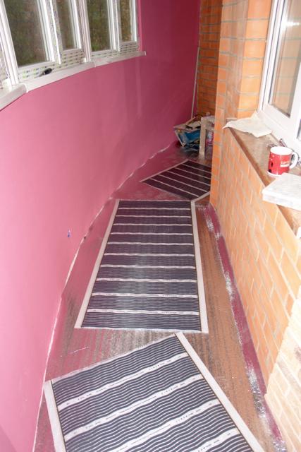 В разделе наши работы новый проект. отопление балкона инфрак.